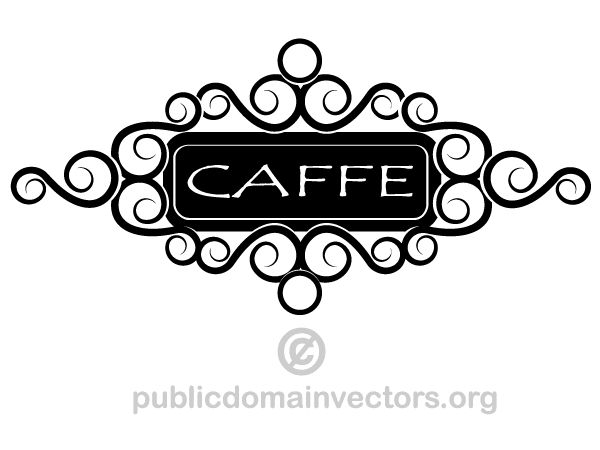 Cafe Sign Clipart Image.