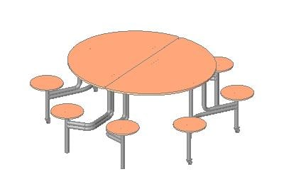 Cafeteria Table.