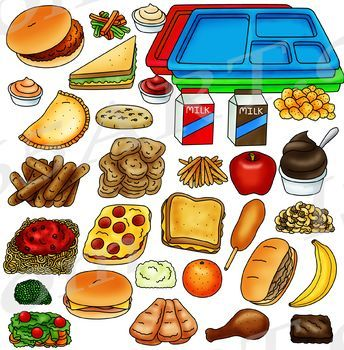 Cafeteria Food Clipart.