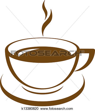 Clipart of Vector icon of coffee cup k14027731.