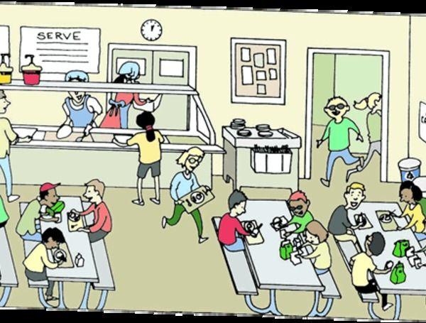 Cartoon School Cafeteria Clip Art.