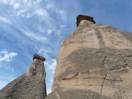 Free photo Fairy Chimneys Tufa Cappadocia Rock Formations.