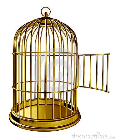 Open Bird Cage Clipart.
