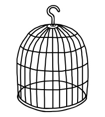 Empty Bird Cage Clipart.