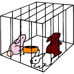 Animal cage clip art.