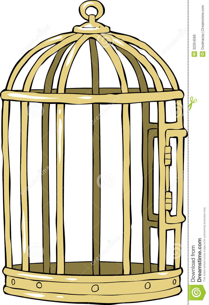 Empty Bird Cage Clipart.