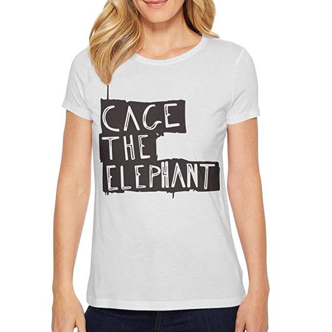 Amazon.com: QILI Girls Fashion Tee Cage The Elephant Logo.