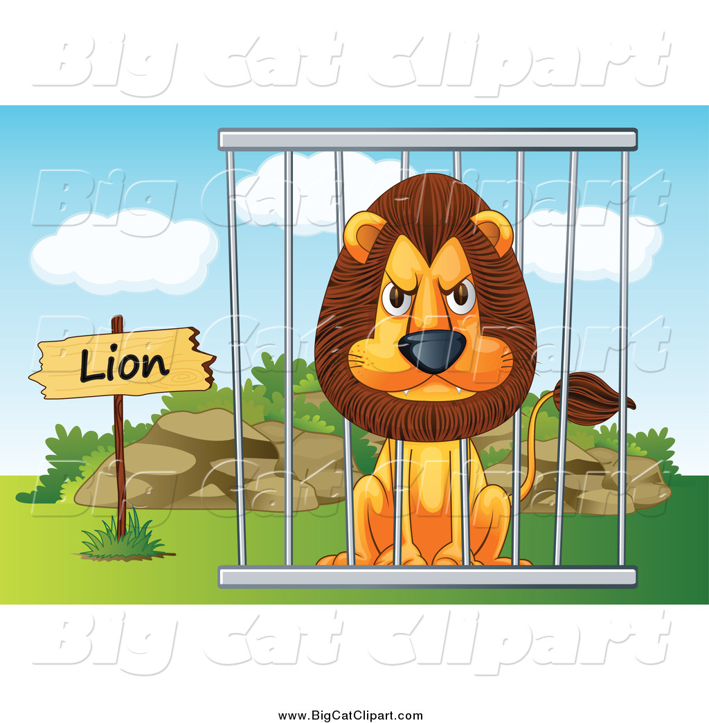 Clipart caged animal.