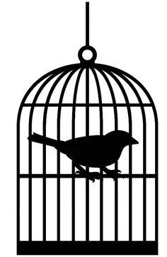 Caged Bird Drawing.