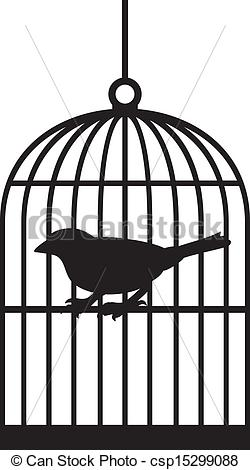 Vector of silhouette bird cages csp15299088.