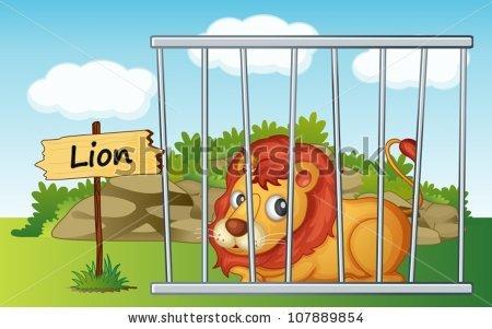 Zoo Cage Stock Photos, Royalty.