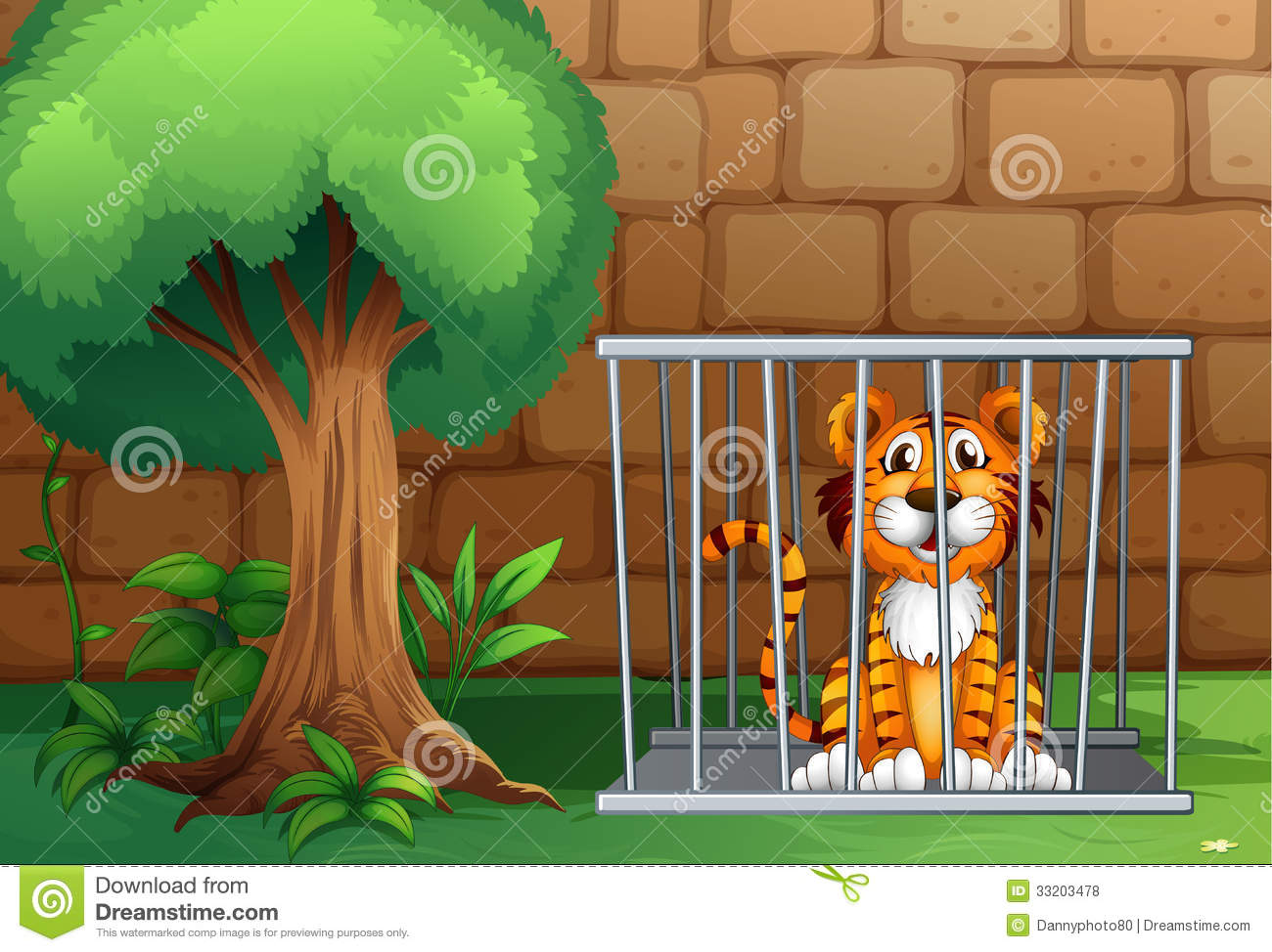 A Tiger Inside The Animal Cage Royalty Free Stock Photos.