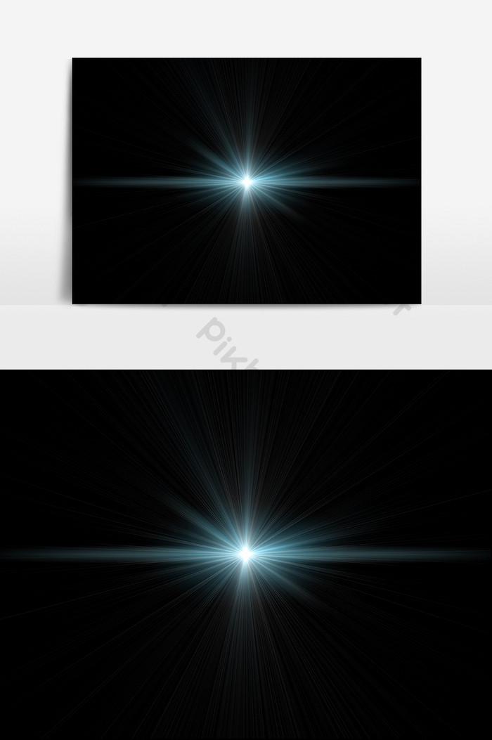 Kilau lensa efek cahaya bersinar.