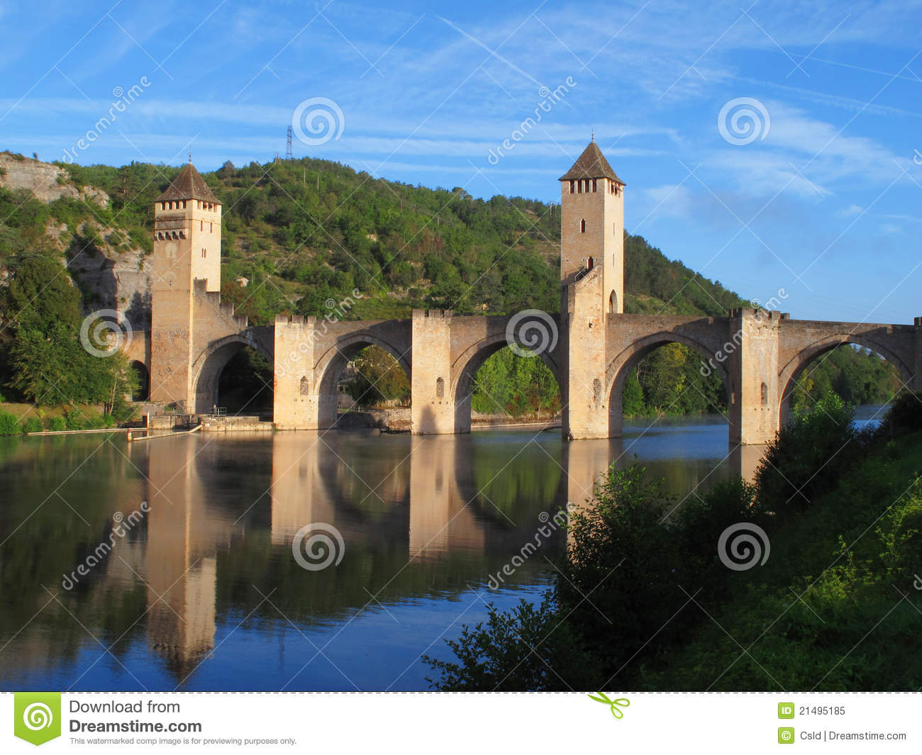 Cahors Bridge Royalty Free Stock Photo.