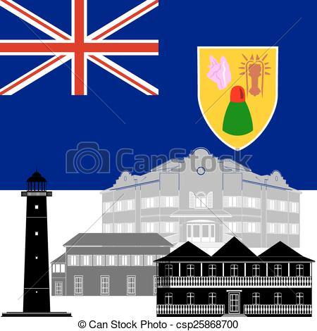Vector Clipart of Turks and Caicos Islands.