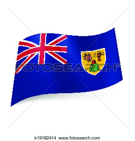 Clipart of Flag of Turks and Caicos Islands k19182414.
