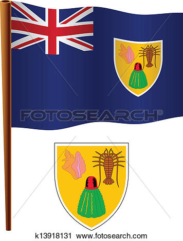 Clipart of turks and caicos islands wavy flag k13918131.