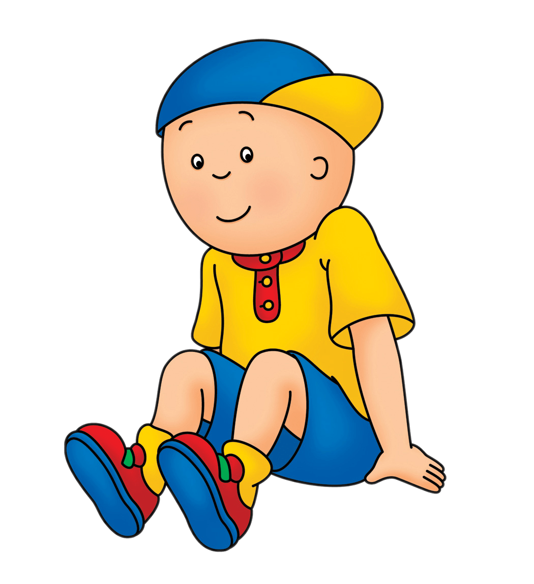 Caillou Sitting transparent PNG.