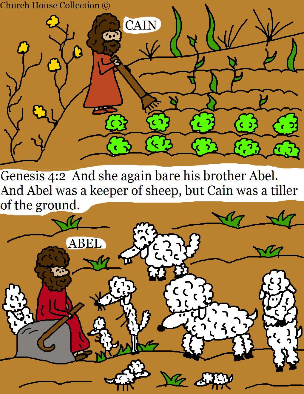 Cain From the Bible Clip Art.