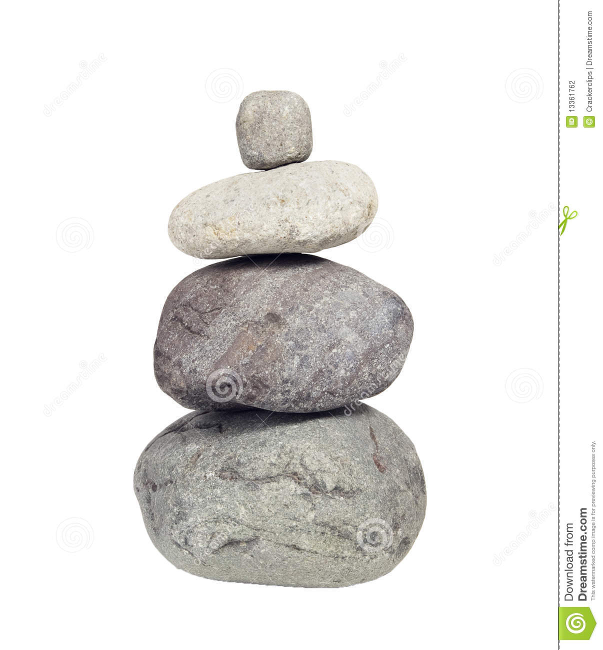 Stack Of River Rocks, Cairn Stock Photography.