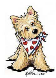 Cairn terrier dog Vintage Mounted 1936 'Mac' Lucy Dawson dog.