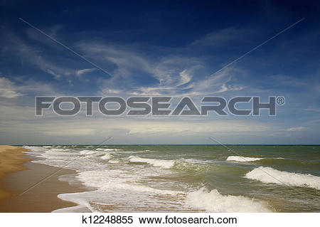Stock Image of Tropical beach, north of Cairns, Queensland.