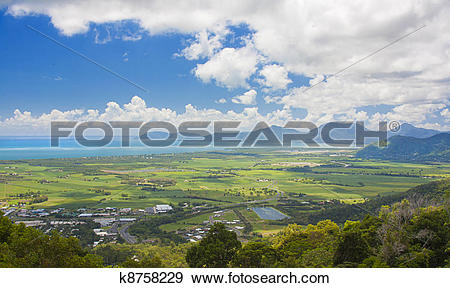 Stock Photograph of view of Cairns ,Australia k8758229.