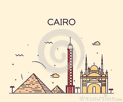 Cairo Tower Stock Illustrations.