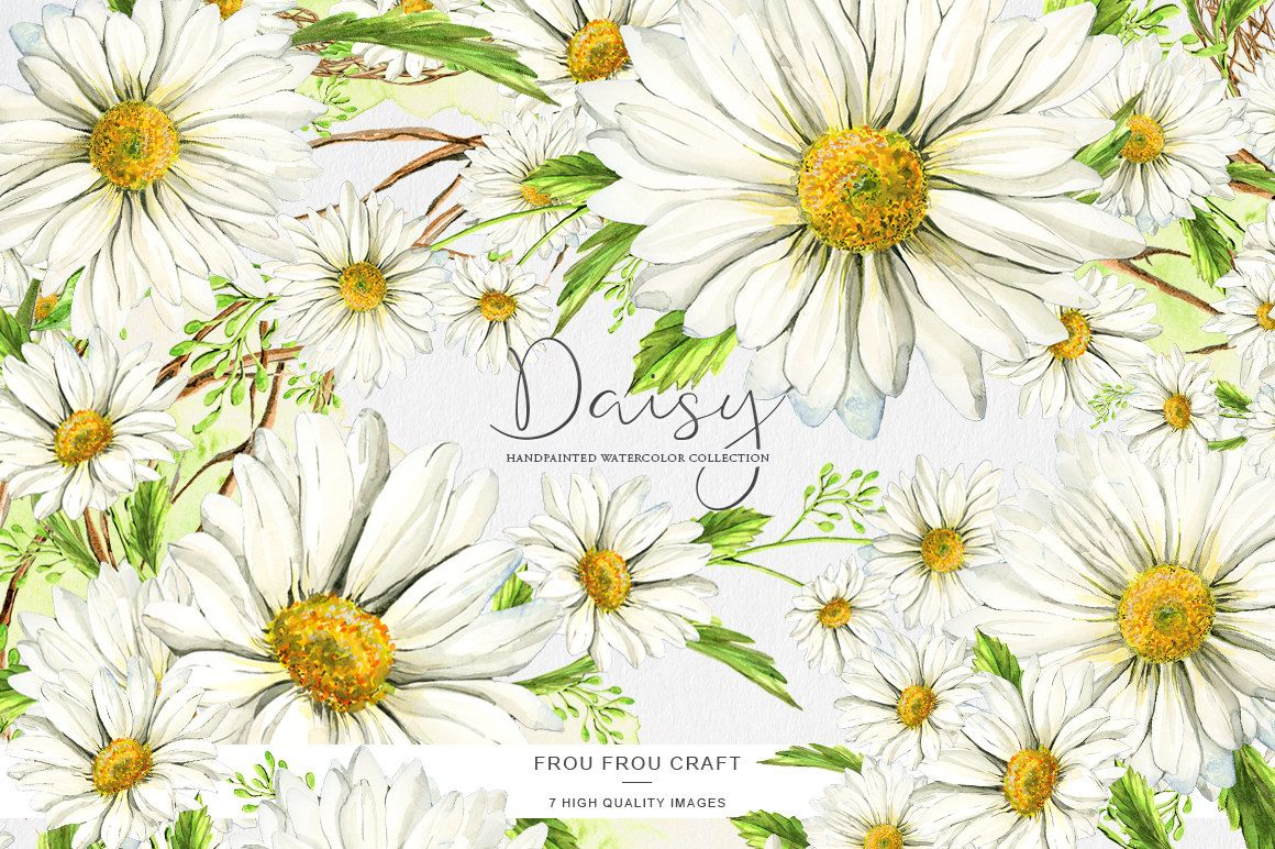 Daisy Clipart Stickers Scrapbooking, White Spring Clip Art.