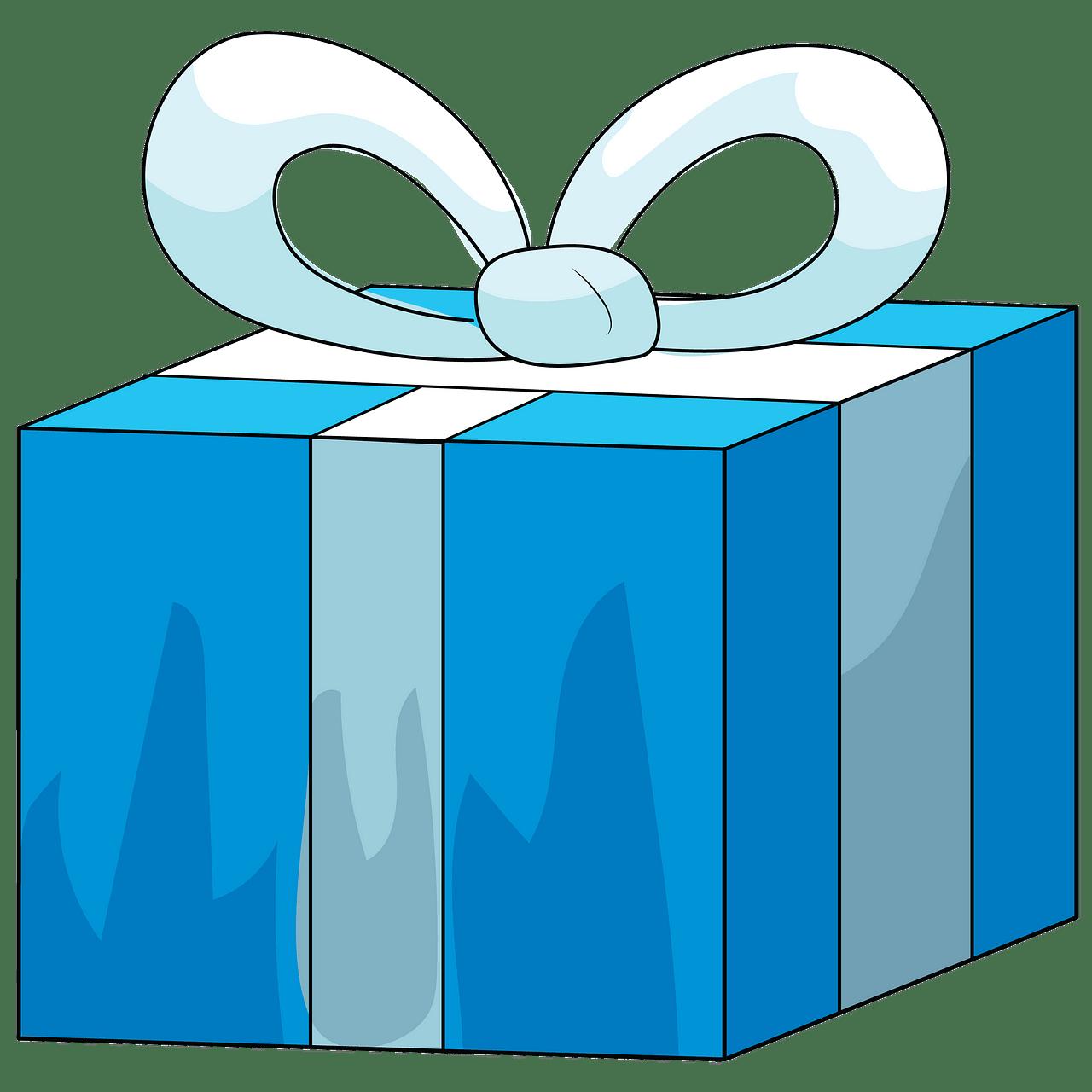 Caixa de presente azul clipart. Download grátis..