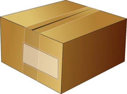 Closed Carton Box clip art clip arts, clip art.
