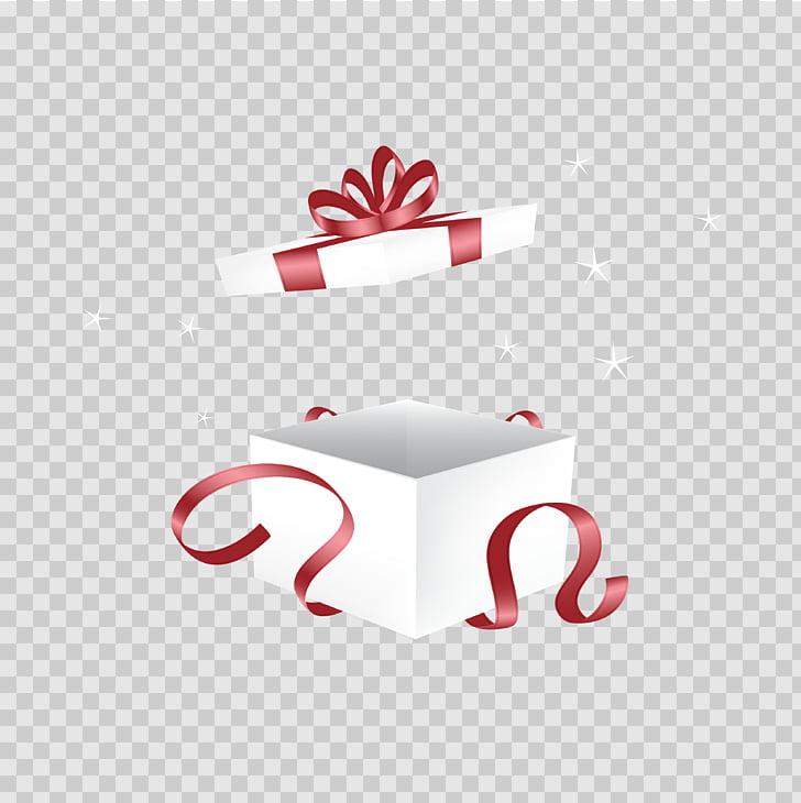 Gift Decorative box, Open white gift box diagram, white box.