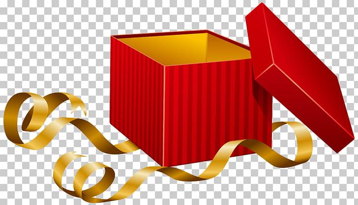 Caja roja con ilustración de cinta, caja de regalo, regalo.