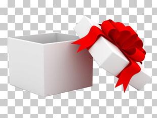 Caja de regalo roja, regalo gratis, abre la caja de regalo.