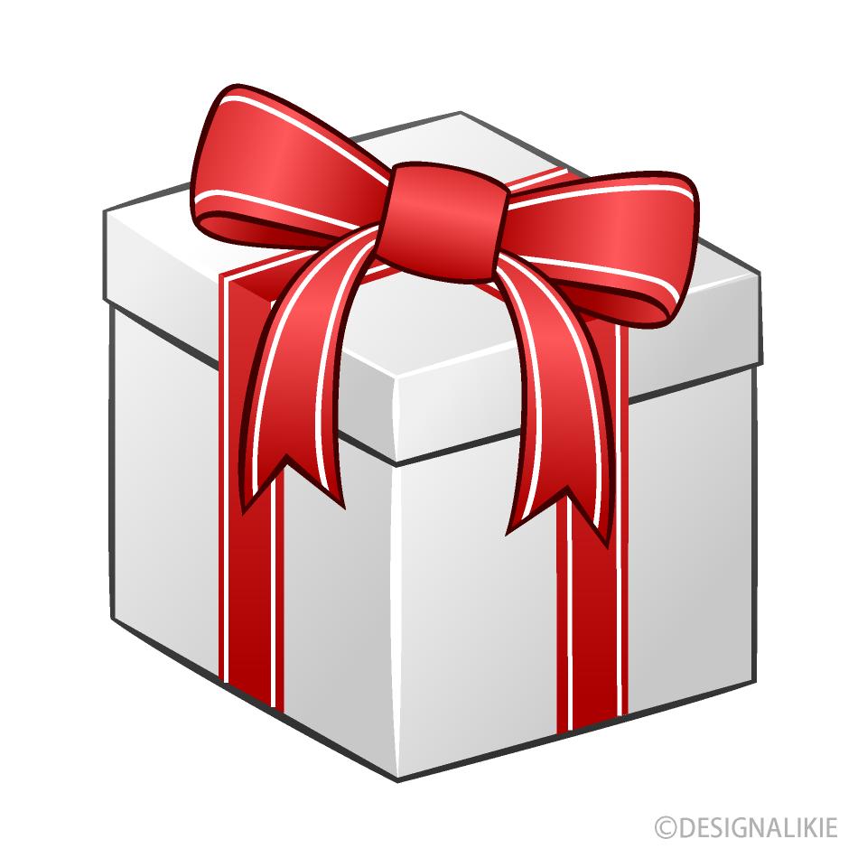 Clipart de caja de regalo blanca Gratis Dibujos Animados.