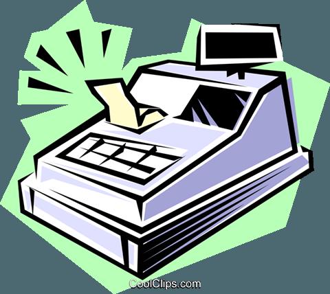 Caja registradora libres de derechos ilustraciones de.
