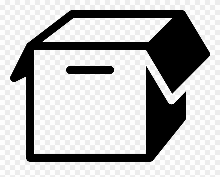 Empty Box Filled Icon.