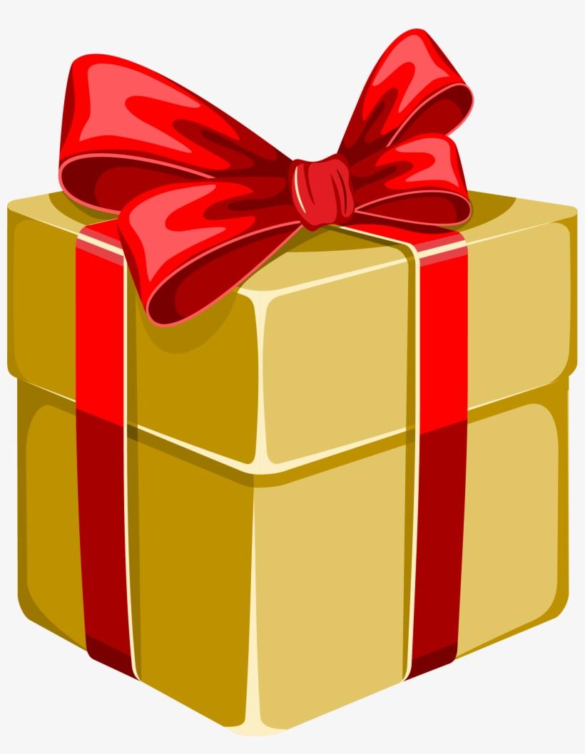 Gift Box Gratis Clip Art Yellow Bow.