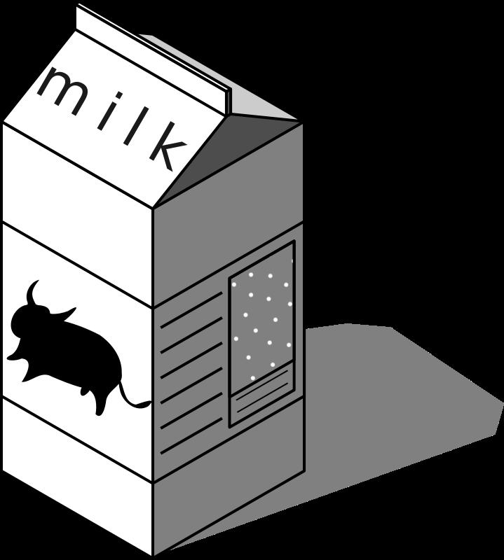 Free Clipart: Caja de leche, milk box.