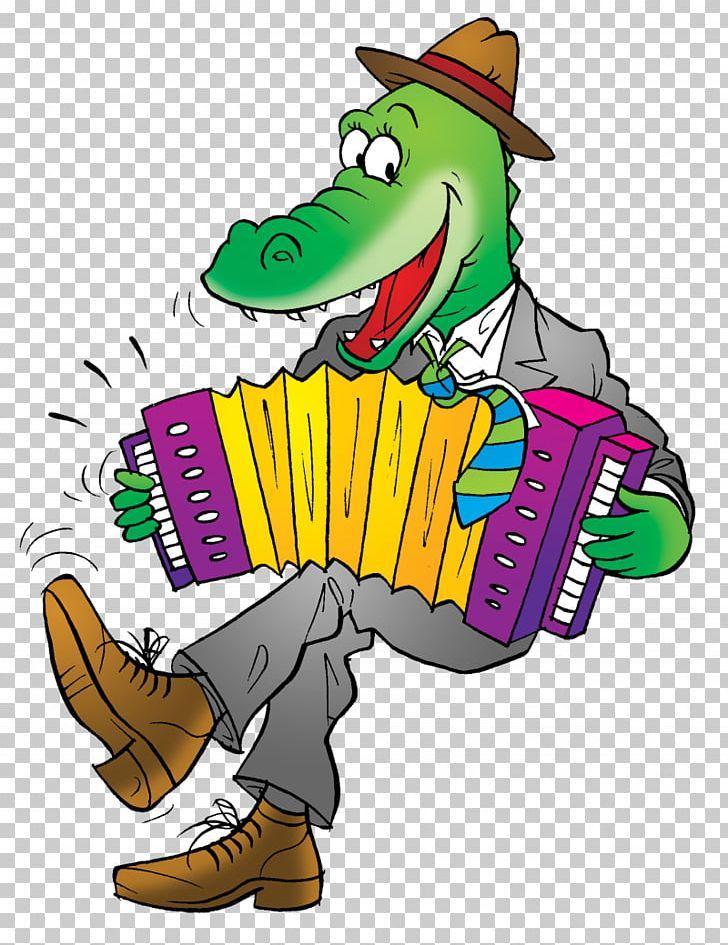 Alligator Crocodile Cartoon Cajun Accordion PNG, Clipart, Accordion.