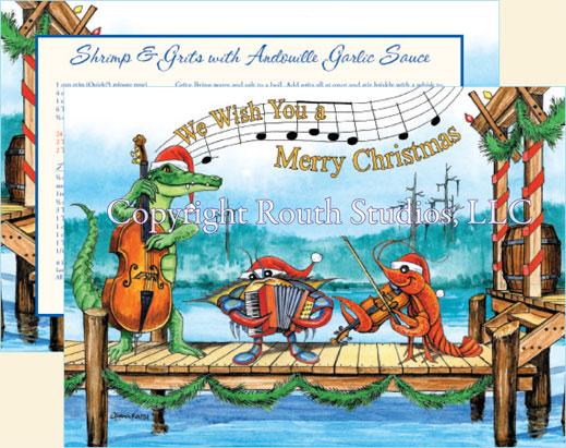 Gulf Coast Louisiana Cajun Christmas Cards.