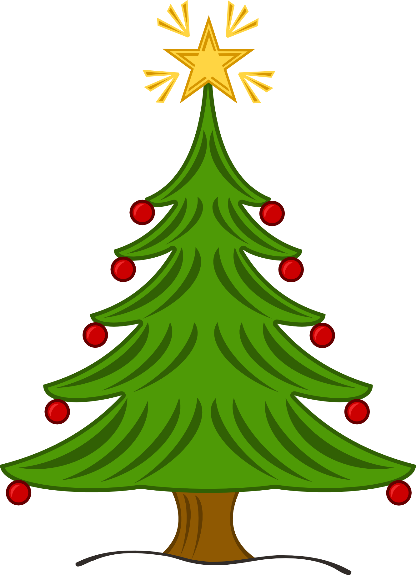 Cajun christmas tree clipart.