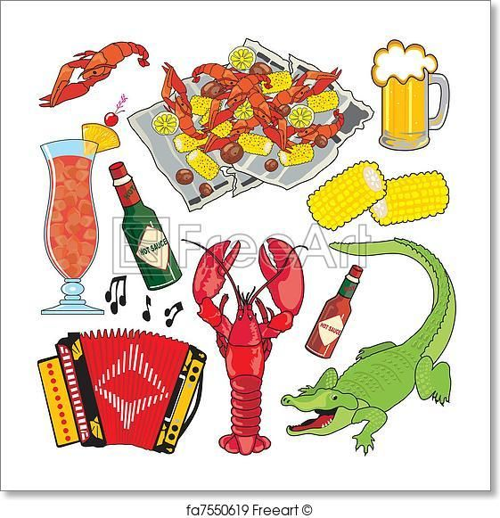 Free art print of Cajun Icons and clipart.