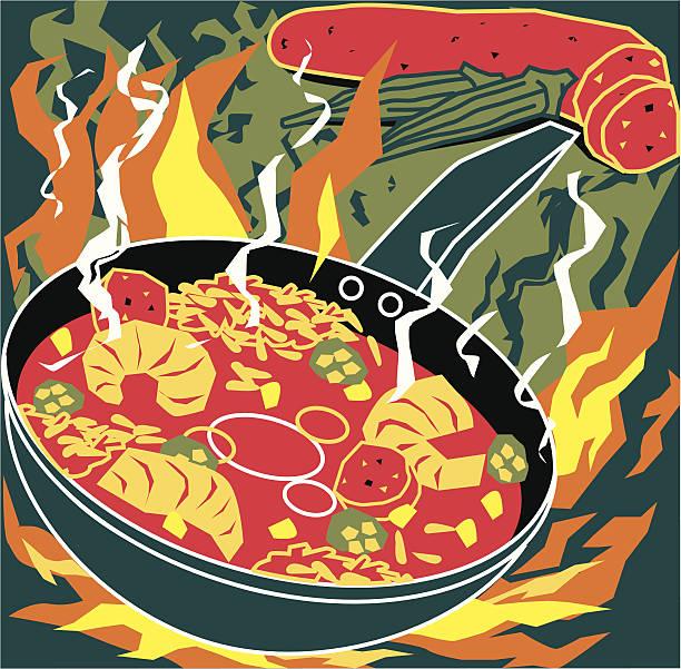 Best Cajun Food Illustrations, Royalty.