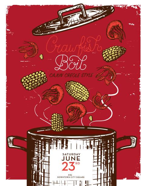 Best Cajun Cooking Illustrations, Royalty.