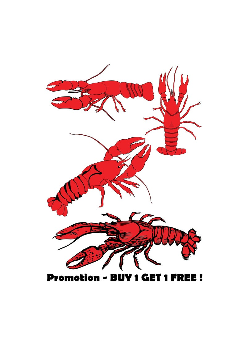 Crawfish, Cut File, Clip Art, SVG, Cricut, Silhouette Cameo, ScanNCut,  Scrapbook, Louisiana, Cajun, Lobster, Crawfish Clipart, SVG File, Png.