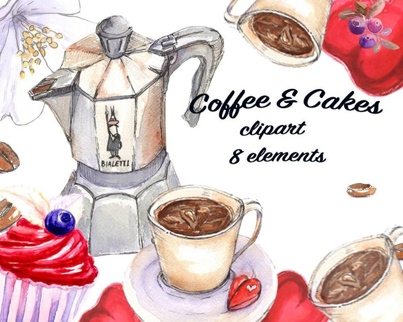 Coffee time clipart Coffee beans Coffee Cakes Coffee clipart Cake clipart  Blueberry clipart Heart clipart, Sweet clipart Good Morning.
