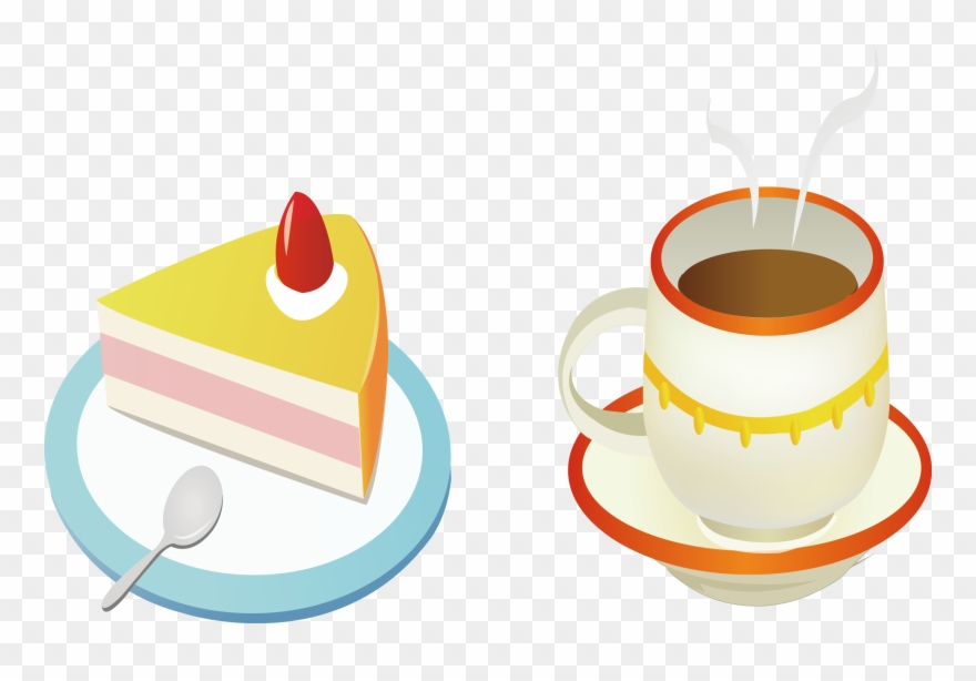 Teacup Clipart Coffee Cake.