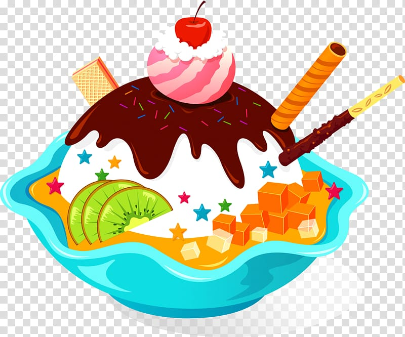 Ice cream cake Ice cream cone Cupcake, ice cream transparent.