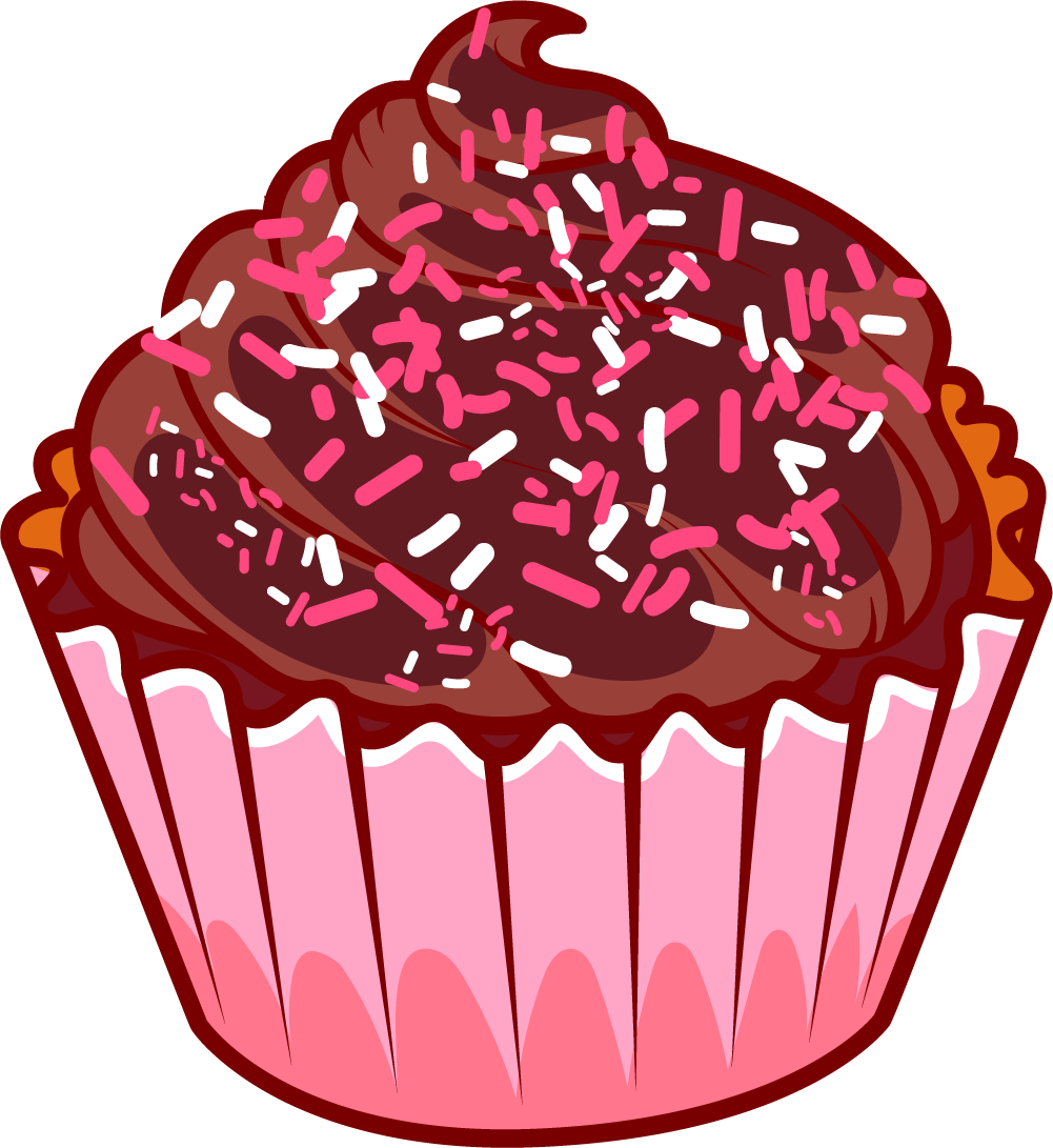 Chocolate Cake Ice Cream Muffin Cupcakes Transprent Clipart.